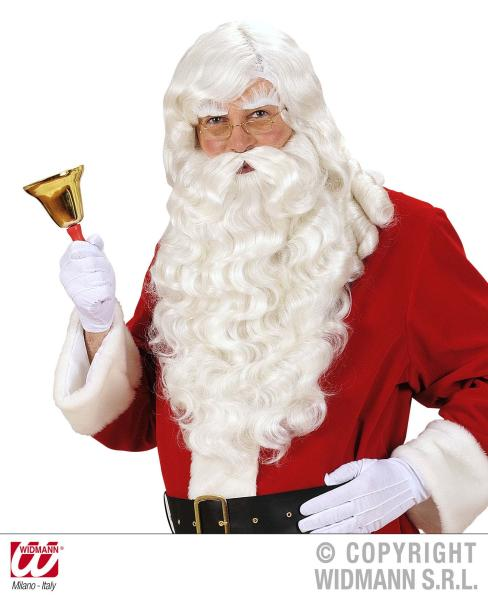 very long white Santa beard with wig
