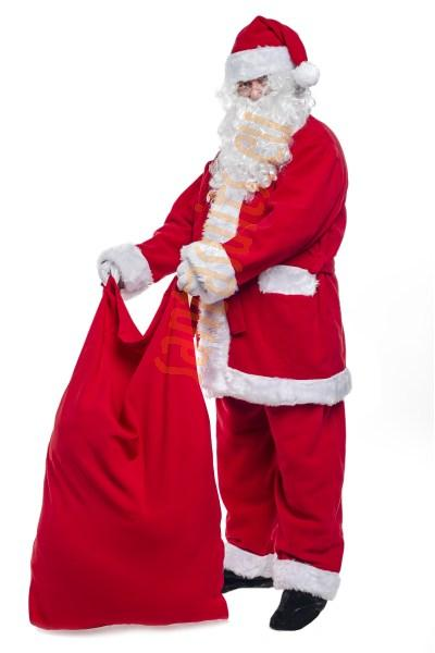 small Santa sack, small red sack for presents