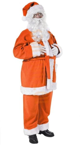 Orange Santa suit - jacket, trousers and hat