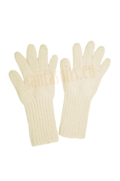 Thick Santa's gloves, thick beige gloves