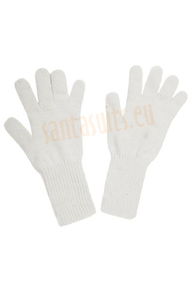Thick Santa's gloves, thick white knitted gloves
