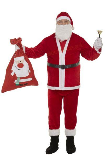 Thin plush Santa suit – 10 parts
