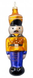 Blue & gold tin soldier ornament