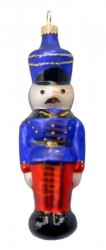 Red & blue tin soldier ornament