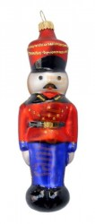 Blue & red tin solider ornament