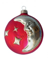 Red moon ball ornament