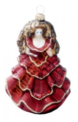 Red lady ornament