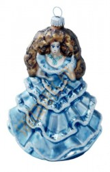 Blue lady ornament