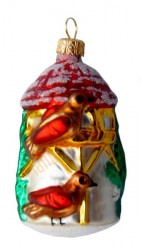 Red birdhouse ornament