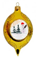 Gold picture-frame ornament