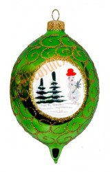 Green picture-frame ornament