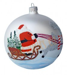 Hand-painted ball ornament, design 5