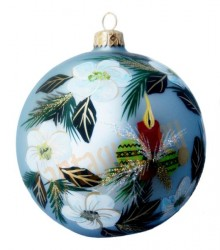 Hand-painted ball ornament, design 6