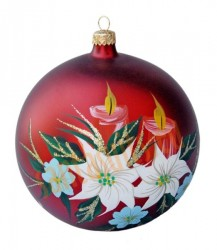 Hand-painted ball ornament, design 7