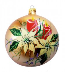 Hand-painted ball ornament, design 8