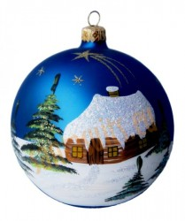 Hand-painted ball ornament, design 9