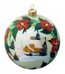 Hand-painted ball ornament, design 10