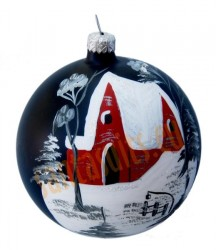 Hand-painted ball ornament, design 11