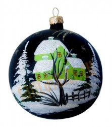 Hand-painted ball ornament, design 12