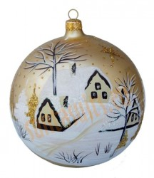 Hand-painted ball ornament, design 14