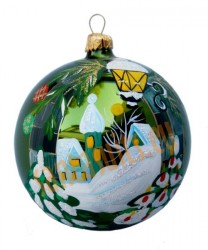 Hand-painted ball ornament, design 15