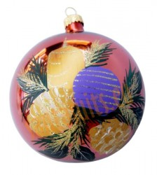 Hand-painted ball ornament, design 16