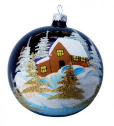 Hand-painted ball ornament, design 17