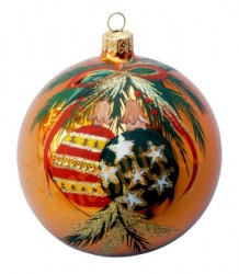 Hand-painted ball ornament, design 18