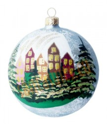 Hand-painted ball ornament, design 1