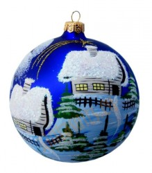 Hand-painted ball ornament, design 19