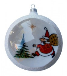 Hand-painted ball ornament, design 20