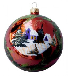Hand-painted ball ornament, design 2
