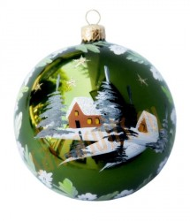 Hand-painted ball ornament, design 3