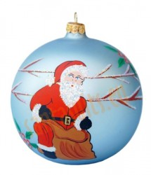 Hand-painted ball ornament, design 4