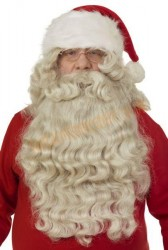 "Natural Santa beard with wig (19.5""/50 cm)"