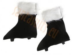 Santa boot covers with long faux fur