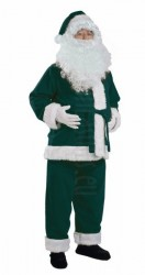 dark green Santa suit - jacket, trousers and hat