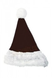 Dark brown Santa's hat for children