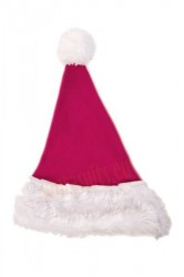 Magenta Santa's hat for children