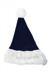 navy Santa's hat for children