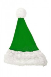 green Santa's hat for children