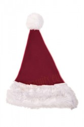 royal purple Santa's hat for children