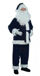navy-blue Santa suit - jacket, trousers and hat
