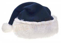 navy-blue Santa's hat