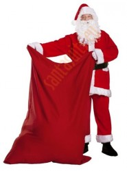 Santa suit with jacket and sack, big red sack for presents