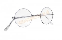 Santa spectacles, metal-framed spectacles with non-corrective lenses