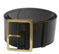 black leather Santa belt, black leather belt