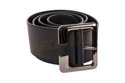 black Santa belt made of artificial leather
