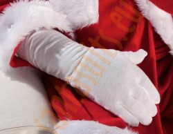 long Santa gloves, long white cotton gloves