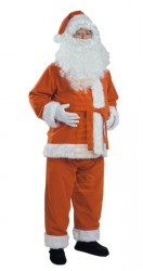 brown Santa suit - jacket, trousers and hat